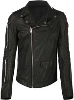 Rick Owens biker jacket - men - Cotton/Leather - 52