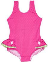 Florence Eiseman Skirted Polka-Dot One-Piece Watermelon Swimsuit, Pink, Size 2-6X
