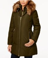 MICHAEL Michael Kors Faux-Fur-Trim Layered Down Coat