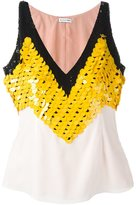 Altuzarra sequin embellished top