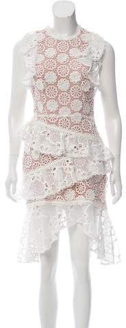 Alexis Ruffled Lace Dress