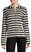 Akris Stripe Button Jacket