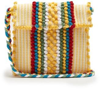 Antonello Tedde Suni Cotton Stripe Cross-body Bag - Yellow Multi