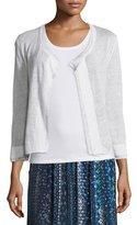 Nic+Zoe Double-Trim Cardigan, Paper White, Plus Size