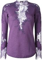 Ermanno Scervino lace detail knitted top