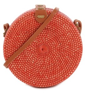 Crown Vintage Round Box Crossbody Bag