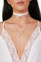 boohoo Charlotte Plunge & Tie Choker Necklace Pack