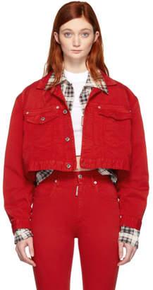DSQUARED2 Red Denim Maxi Jacket