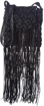 Saint Laurent Braided Leather Tassel Crossbody
