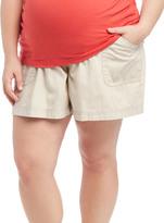 Motherhood Plus Size Secret Fit Belly Roll Hem Maternity Shorts