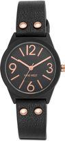Nine West Vehronica Black Strap Watch