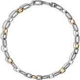 John Hardy Men's Classic Chain 12mm Link Necklace in Sterling Silver and 18K Gold