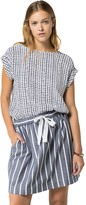 Tommy Hilfiger Final Sale- Optic Square Sleeveless Blouse
