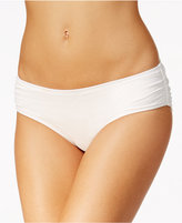 MICHAEL Michael Kors Essential Shirred Bikini Bottoms