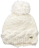 Betsey Johnson Women's One Size Pearly Girl Beanie with Pom