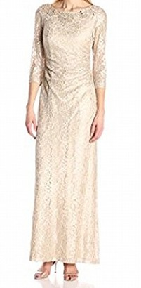 Alex Evenings Women's Lace Column Dress