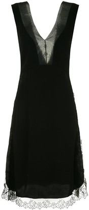 Neil Barrett Lace Trim Knee Length Dress