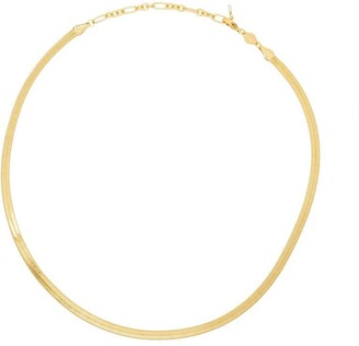 Anni Lu Snake Charmer gold-plated herringbone necklace
