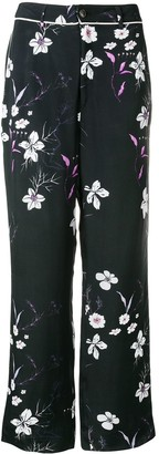 Closed Floral Print Trousers