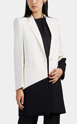 Givenchy Women's Colorblocked Wool Long Blazer Jacket - White