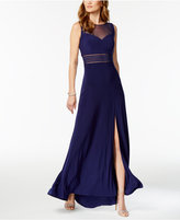 Night Way Nightway Illusion A-Line Gown