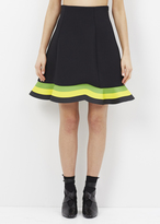 J.W.Anderson green / yellow orbit hem skirt