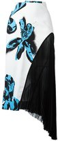 Cédric Charlier floral print asymmetric skirt - women - Rayon - 40