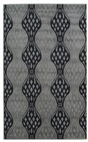 Linon Milan Collection Black/ Turquoise Area Rug (5' x 7'7)