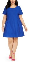 Robbie Bee Plus Size Knit Pocket Dress