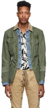 Greg Lauren Green Ollie Trucker Front Jacket