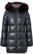 Duvetica Kappa Down Coat with Fur Trim in Toner