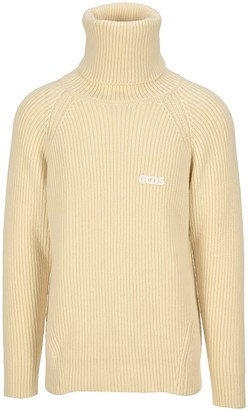 GCDS Ribbed-knit Roll Neck Jumper