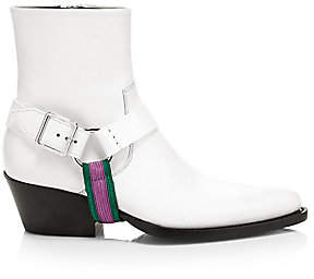Calvin Klein Women's Tex Harness Leather Ankle Boots