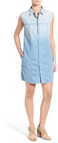 Hudson Jules Ombre Chambray Sleeveless Shirtdress