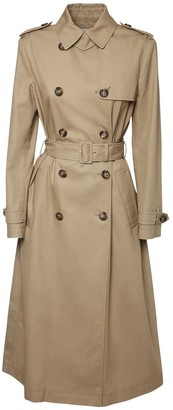 RED Valentino Pleated Gabardine Trench Coat
