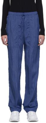 Helmut Lang Blue Sheer Pull On Pants