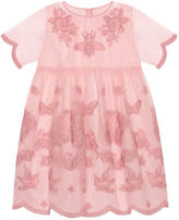 Gucci Children's tulle dress with embroidery