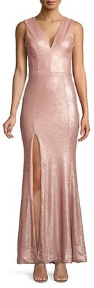 Dress the Population Sandra Sequin Mermaid Gown