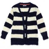 Nautica Little Girls' Fuzzy Striped Cardigan (2T-7)