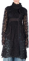 Sacai Belted Sheer Lace Coat