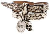 Alexander McQueen Skull Charm Double Wrap Bracelet