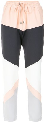 Olympiah Panelled Straight Trousers