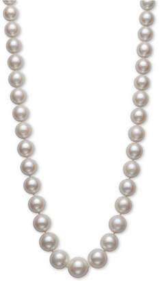 """Belle de Mer Cultured Freshwater Pearl Graduated 17-1/2"""" Strand Necklace (11-14mm) in 14k Gold"""