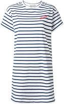 Être Cécile - striped T-shirt dress - women - Cotton - XS
