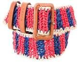 Prada Raffia Bicolor Belt