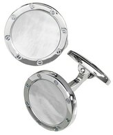 Jan Leslie Round Mother-of-Pearl Cuff Links