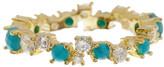 Melinda Maria Sydney Turquoise & CZ Stacking Ring - Size 8
