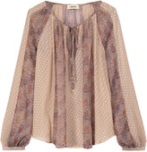 L'Agence Pearl printed fil coupé silk-blend blouse