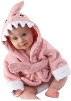 BLAU GRUN Women's Unsex Baby Toddler Fleece Hooded Bath robe Cute Bathrobes