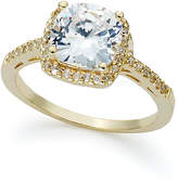 Giani Bernini 18k Gold over Sterling Silver Ring, Cushion-Cut Cubic Zirconia Ring (3-1/3 ct. t.w.), Only At Macy's